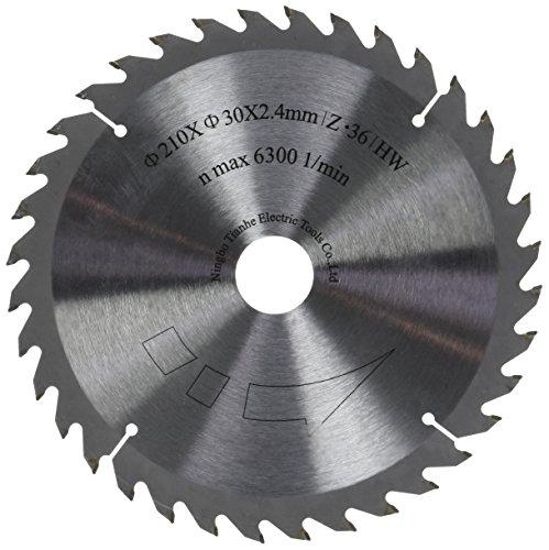 Scheppach 7901800601 Zubehör Säge Sägeblatt, passend für die Tauchsäge PL75, Vollholz, Laminat und Kunststoffe, Durchmesser 210 x 30 mm / 36 Z
