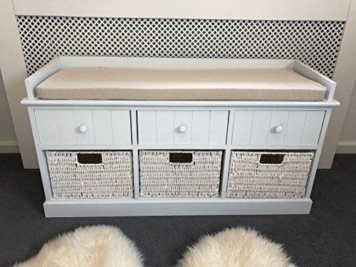 Home Delights Blanco Banco Almacenamiento cajones