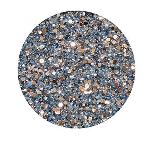 Strass Rond, Bleu clair, 2 mm, env. 100 pièces