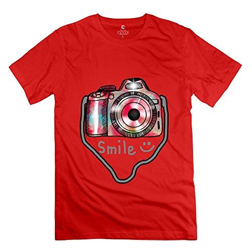 Herren-Kamera Foto T-Shirt Einzigartige Geek T-Shirts, Herren, rot