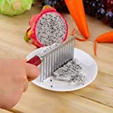 #6: Kitchen Express Wavy Edged Knife Stainless Steel Kitchen Gadget Vegetable Potato Strip Fruit Slicers Cutting Peeler Cooking Accessories