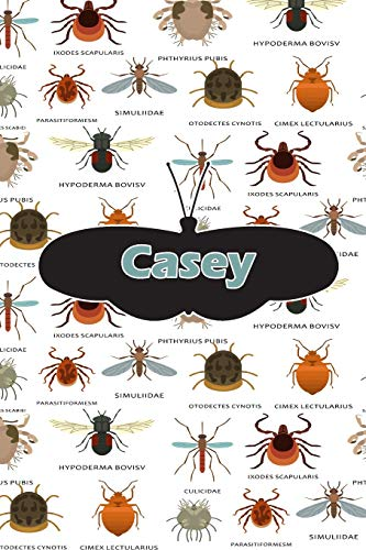 Casey: Insect Themed Comprehensive Garden Notebook with Garden Record Diary, Garden Plan Worksheet, Monthly or Seasonal Planting Planner, Expenses, Chore List, Highlights Simulated Leather Casey Crop
