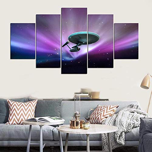 mmwin Wandkunst HD Drucke Cuadros Dekoration Star Trek 5 Stücke Leinwand Für Wohnzimmer Modulare Bilder Kunstwerk Poster