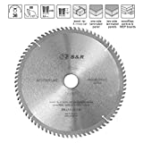 Lame de scie circulaire Bois 254 x 30 mm 80 Dents / Disque Tronçonnage Bois. Qualité Professionnelle