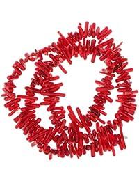Bamb¨² Coral Rama Cuentas Abalorios Granos Suelto 9-12mm / 16 Inch Rojo Oscuro