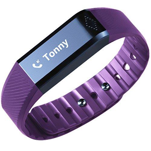 Toprime Fitness Tracker Touch Letto-passi Monitor Dello Schermo Wristband Calorie Distanza Ricordate Calling Leggere i (Nel Corso Di Ceramica)
