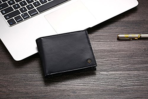 51uI01eS7TL - Cronus & Rhea® | Luxury wallet with coin pocket made of exclusive leather (Plutus) | Wallet - Money Clip | Real leather | With elegant gift box | Men