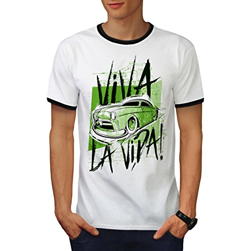 Geschwindigkeit Alt Schule Leben Auto Herren S Ringer T-shirt | Wellcoda (Ringer Rallye T-shirt)