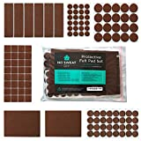 Best Furniture Pads - Dark Brown Furniture Felt Pads - Set of Review
