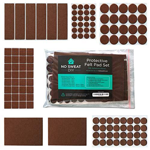 Almohadillas de fieltro para muebles - Protectores de fieltro gruesos con adhesivo para las patas de los muebles. Incluye distintos tamaños para proteger tus suelos de madera.