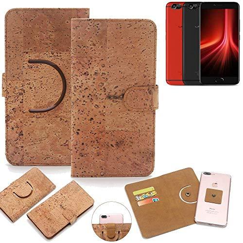 K-S-Trade Schutz Hülle für UMIDIGI Z1 Pro Handyhülle Kork Handy Tasche Korkhülle Handytasche Wallet Case Walletcase Schutzhülle Flip Cover Smartphone