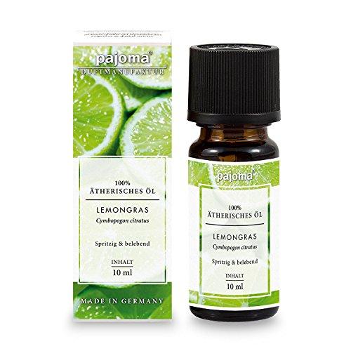 Ätherisches Duftöl ''Lemongras'' , 10 ml, 100% naturrein von pajoma (Massage-öl Lemongrass)