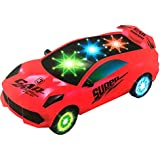 Saisan Kids Bump And Go 3D Lights Car With Sound And Wheels With Light Assorted Color