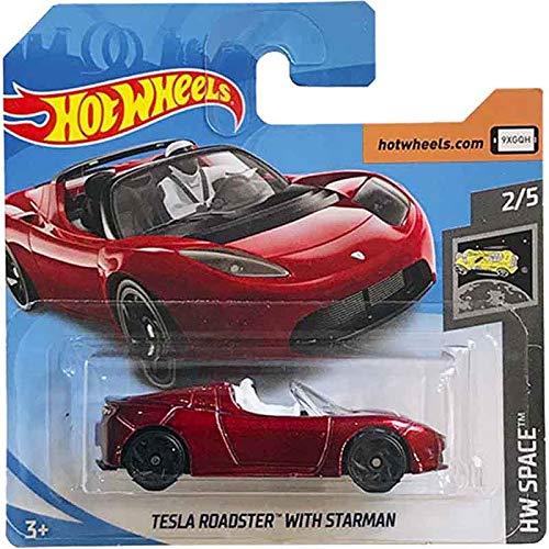 Hot Wheels Tesla Roadster Whit Starman HW Space 109/250 2019 Short Card
