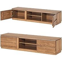 furniture24 eu tv schrank lowboard unterschrank montenegro eiche natur furniert massivholz eiche