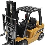 Giplar 1:10 Voll funktionsfähiger RC Gabelstapler-Simulation Fahrzeuge Bauholz Zupacken Raupenketten Ingenieur Fahrzeug Spielwaren