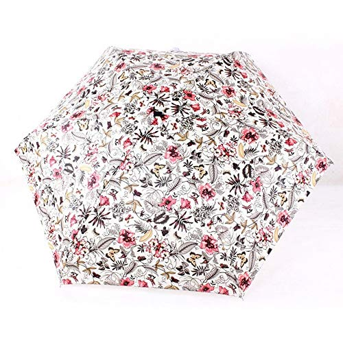 YSKGZ Ombrello Pittura A Olio Creativa 5 Volte Mini Tasche Leggere Eccellenti Ombrello Ombrelli di Protezione all'Ingrosso Donne della Pioggia,D