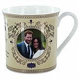 Mug souvenir du Mariage Royal du Prince Harry et de Meghan - En céramique et doré à l'or
