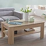 Pharao24 Wohnzimmer Tisch in Sonoma Eiche 110 cm breit