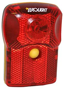 Eurolight Rear Red Led Light with Built In Reflector - Fits Rear Pannier