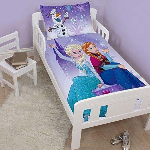 Disney La Reine des neiges Flocon de neige 4en 1Junior literie Bundle Set (couette, taie d'oreiller et couvertures)