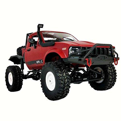 t Junge RC Spielzeugauto 1:16 WPL C14 Skala 2.4G 2CH 4WD Mini Geländewagen RC Sattelschlepper RTR Kinder Klettern LKW (Rot) (2 Yr Old Girl, Spielzeug)