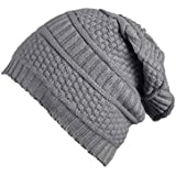 FabSeasons Unisex Black Acrylic Woolen Winter Beanie and Skull Cap for winters