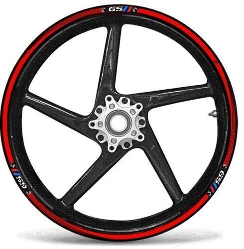 STRISCE ADESIVE compatibili per MOTO BMW GS adesivi CERCHI 17' 19' tuning RALLY
