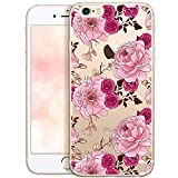 OOH!COLOR Bumper Compatible pour iPhone 6S Plus, Coque iPhone 6 Plus Silicone Fleur...