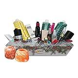 Avon Cesto di Natale con Creme, Deodoranti, Shampoo, Cosmetica e due Portacanele di Sale dell'Himalaya in regalo
