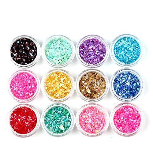 Ogquaton Prime 12 pots Effacer Nail Art Vide Pots De Stockage Conteneur pour Charms Bijoux Perles Artisanat DIY