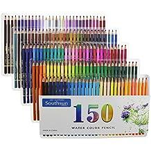Juego de 150acuarela lápices con funda de transporte para colorear dibujo pintura