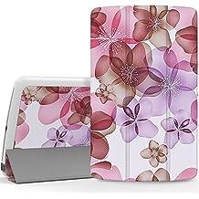 MoKo LG G Pad F 8.0 Funda - Ultra Slim Ligera Smart-shell Funda para LG G Pad F 8.0 Pulgadas [AT&T 4G LTE Modelo V495 y T-Movil 4G LTE Modelo V496], Floral VIOLETA