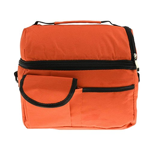 Wilk-Isolierte Thermo Kühler Schulter Travel Lunchpaket Mummy Baby Flasche Taschen-Orange -