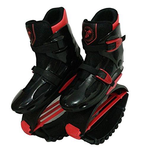 Unisex-Antigravitationlaufstiefel für Erwachsene, zum Rennen, Springen und Hüpfen, mit ca. 20 bis 100kg belastbar XL schwarz / rot
