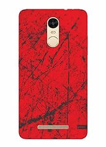 Gobzu Printed Designer Hard Case Back Cover for Xiaomi Redmi Note 3 - Grunge RG