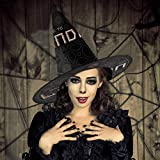 NUJIFGYTCRD - Cappello da Strega con Scritta Welcome to London, Unisex, per Halloween, Natale, Carnevale
