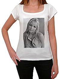Britney Spears 1, tee shirt femme, imprimé célébrité,Blanc, t shirt femme,cadeau