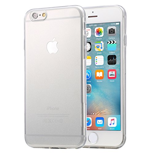 wortek iPhone 6/S Schutzhülle Transparent TPU Case Liquid Crystal Ultra Slim Cover Durchsichtig Schlank Bumper klar [Camera-Protection]