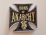 # 124 AUFNÄHER Sons of Anarchy Cross-GRÖSSE ca. 10x10cm! Komplett Bestickt! Patch APLICATION ECCUSON Hot Rod!