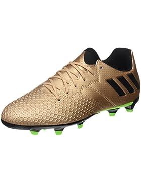 adidas Messi 16.3 FG J - Botas de fútbol Línea Messipara niños, Bronce - (COBMET/Negbas/Versol), 31