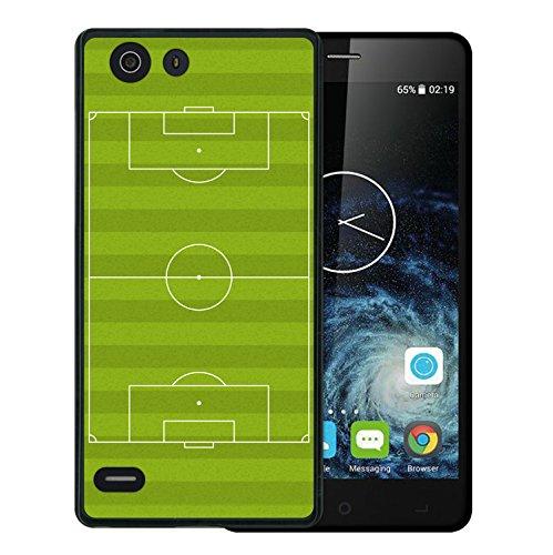 Elephone S2 Hülle, WoowCase Handyhülle Silikon für [ Elephone S2 ] Fußballfield Handytasche Handy Cover Case Schutzhülle Flexible TPU - Schwarz