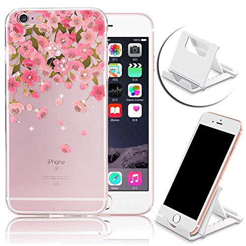 iPhone 6s Plus Hülle, iPhone 6 Plus Hülle, Vandot iPhone 6s Plus / 6 Plus Schutzhülle Diamant Bling Glitzer Transparent Muster Handyhülle Thin Pattern TPU Silikon Weich Case Cover Glänzend Malerei Dur Color 26