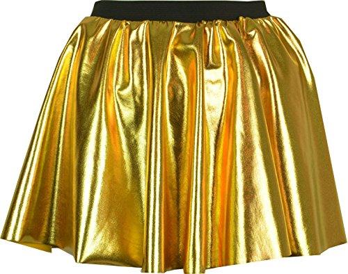 Gold oder Silber lycra skirt 30.48 cm Länge Gold - Gold