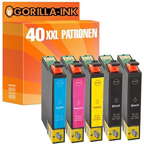 2530 Kopierer (Gorilla-Ink® Sparset 40 Tintenpatronen XXL ersetzt Epson GI1631-GI1634 Workforce WF-2510 WF-2520 NF WF-2530 WF-2540 WF WF-2750 DWF WF-2760 DWF)