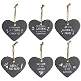 Choice of 6 Small Garden Heart Signs by Transomnia