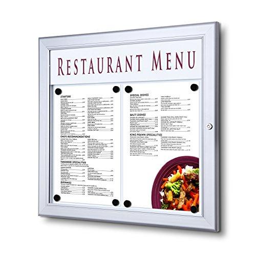 Outdoor Wand montiert abschließbar Menu Fall A3Querformat - Outdoor-menü-board