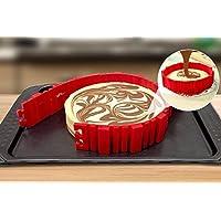 Molde para tartas de silicona de Maxus 4 piezas, molde para hacer tartas en casa, flexible, antiadherente y desmontable para realizar tartas caseras, rojo