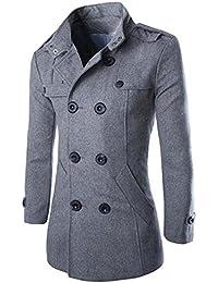 Naughtyman Manteau classique en laine mélangée, veste de laine
