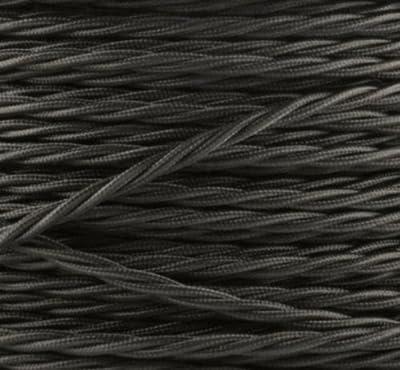 Textilkabel, Stoffkabel, Lampen Kabel Strom, 3-adrig, 3x1,5mm², GWH-Schwarz von GWH - Lampenhans.de